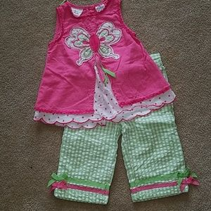 Girls 2-piece  18 mo. outfit